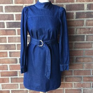 Kate Spade Long Sleeve Denim Dress